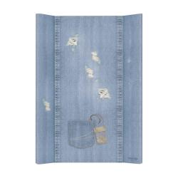 Матрас пеленальный Ceba Baby (Себа Беби) 70 см мягкий без изголовья Denim Style Shabby blue W-102-119-589