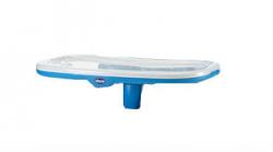 Столик к стульчику Chicco Polly New c разделителем цвет синий