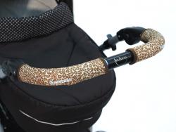 Чехлы Choopie CityGrips (Сити Грипс) на ручку для универсальной коляски длинные 511/9341 Brown Leopard