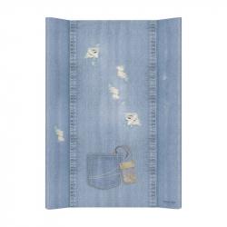 Матрас пеленальный Ceba Baby (Себа Беби) 70 см без изголовья на кровать 120*60 см Denim Style Shabby blue W-200-119-589