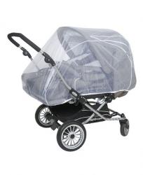 Сетка москитная Tullsa (Туллса) универсальная для коляски-двойни white 50501