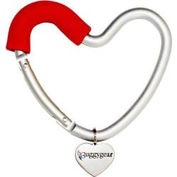 Крепление для сумок Buggygear (Багги Гир) Сердечко silver/red 2177