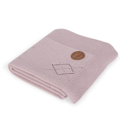 Плед Ceba Baby (Себа Беби) 90*90 вязаный Diamonds pink W-812-108-130