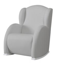 Кресло-качалка Micuna (Микуна) Wing/Flor white/grey искусственная кожа