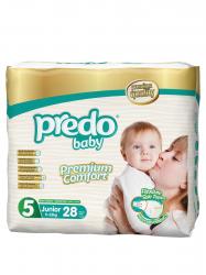 Подгузники Predo Baby Двойная пачка (28 шт.) № 5 (11-25 кг) джуниор