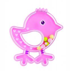 Погремушка Canpol Птичка арт. 2/189, 0м+, цвет: розовый