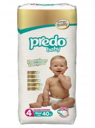 Подгузники Predo Baby Преимущественная пачка (40 шт.) № 4 (7-18 кг) макси