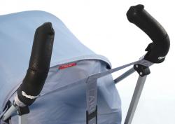 Чехлы Choopie CityGrips (Сити Грипс) на ручки для коляски-трости 506/9556 Black Leather/черная кожа