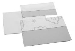 Постельное белье Micuna Dolce Luce (Микуна Дольче Люси) 3 предмета 120*60 TX-821 grey
