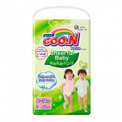 Подгузники-трусики GOO.N Cheerful Baby L (8-14 кг) 48 шт.
