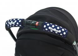 Чехлы Choopie CityGrips (Сити Грипс) на ручку для универсальной коляски 368/4233 polka-dot navy
