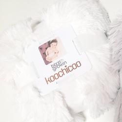Плед Bizzi Growin (Биззи Гровин) 90*90 Koochicoo White BG605