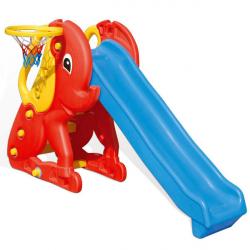 """Горка Pilsan """"Слон"""" с баскетбольным кольцом цвет сине-красный"""