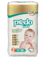 Подгузники Predo Baby Преимущественная пачка (50 шт.) № 2 (3-6 кг) мини