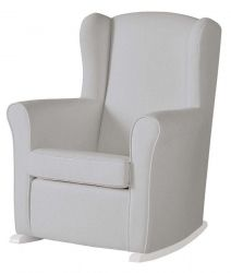 Кресло-качалка Micuna (Микуна) Wing/Nanny white/grey искусственная кожа