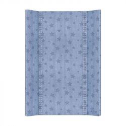 Матрас пеленальный Ceba Baby (Себа Беби) 70 см без изголовья на кровать 120*60 см Denim Style Stars blue W-200-119-587