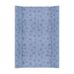 Матрас пеленальный Ceba Baby (Себа Беби) 70 см мягкий без изголовья Denim Style Stars blue W-102-119-587