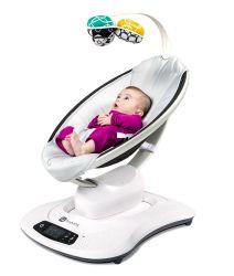 Кресло-качалка 4Moms МамаРу 4.0 серый плюш