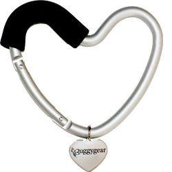 Крепление для сумок Buggygear (Багги Гир) Сердечко silver/black 2146
