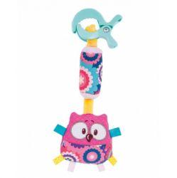 """Подвеска - мягкая игрушка с колокольчиком Canpol """"Forest Friends"""" арт. 68/043, форма: сова"""