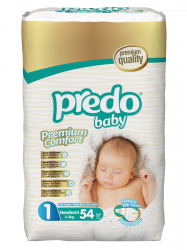 Подгузники Predo Baby Преимущественная пачка (54 шт.) № 1 (2-5 кг) новорожденный
