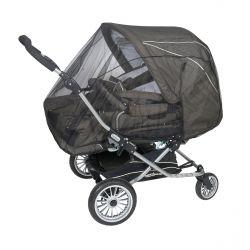 Сетка москитная Tullsa (Туллса) универсальная для коляски-двойни black 50502