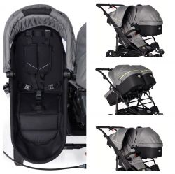 Люлька для коляски TFK QuickfiX Twin (ТФК Твин) Tap DuoX Carrycot Quiet Shade T-45-19-315