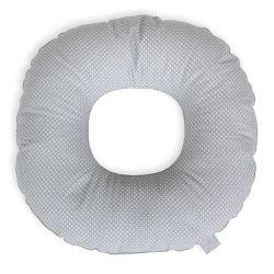 Подушка-круг Ceba Baby (Себа Беби) послеродовая White mini dots on grey W-744-115-260