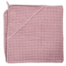 Полотенце-уголок Ceba Baby (Себа Беби) 100*100 см вафельное Silver Pink W-815-303-130