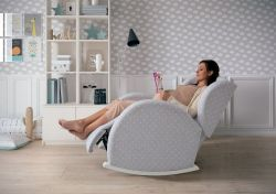 Кресло-качалка Micuna (Микуна) Wing/Flor Relax white/grey искусственная кожа