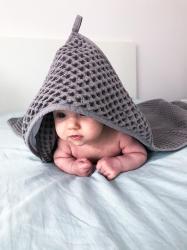Полотенце-уголок Ceba Baby (Себа Беби) 100*100 см вафельное Ash W-815-303-260