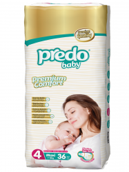 Подгузники Predo Baby Двойная пачка (36 шт.) № 4 (7-18 кг) макси