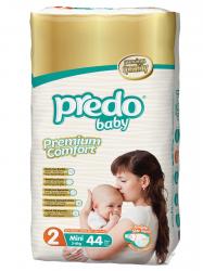Подгузники Predo Baby Двойная пачка (44 шт.) № 2 (3-6 кг) мини