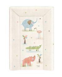 Матрас пеленальный Ceba Baby (Себа Беби) 70 см мягкий с изголовьем Elephant Gang ecru W-103-088-170