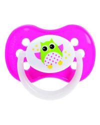 Пустышка Canpol Owl симметричная, силикон, 6-18 мес., арт. 22/569 цвет розовый