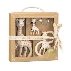 """Подарочный набор игрушек-прорезывателей 3 в 1 Vulli (Вулли) """"Жирафик Софи"""" (натуральный каучук)"""
