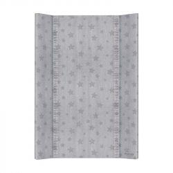 Матрас пеленальный Ceba Baby (Себа Беби) 70 см без изголовья на кровать 120*60 см Denim Style Stars grey W-200-119-588