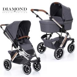 Коляска 2 в 1 FD-Design Salsa 4 (Эф Д Дизайн Сальса) Air Diamond asphalt 12002312003