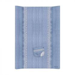 Матрас пеленальный Ceba Baby (Себа Беби) 70 см без изголовья на кровать 120*60 см Denim Style Lace blue W-200-119-600