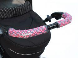 Чехлы Choopie CityGrips (Сити Грипс) на ручку для универсальной коляски длинные 509/9327 Chevron Baby Pink
