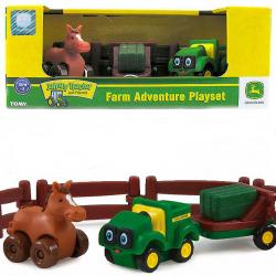 """Игровой набор Tomy """"Приключения трактора Джонни и лошади на ферме"""""""