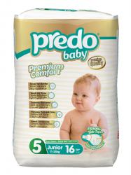 Подгузники Predo Baby Экономичная пачка (16 шт.) № 5 (11-25 кг) джуниор