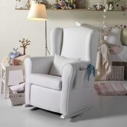 Кресло-качалка Micuna (Микуна) Wing/Nanny white/white искусственная кожа