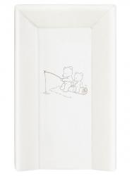 Матрас пеленальный Ceba Baby (Себа Беби) 70 см мягкий с изголовьем Papa Bear white W-103-004-100
