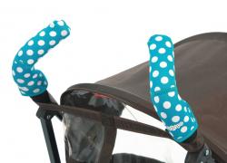 Чехлы Choopie CityGrips (Сити Грипс) на ручки для коляски-трости 369/4202 polka-dot aqua