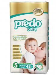 Подгузники Predo Baby Гигантская пачка (48 шт.) № 5 (11-25 кг) джуниор