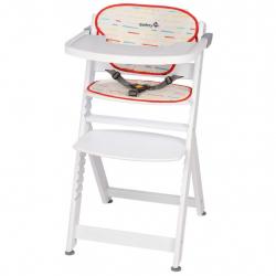 Стульчик для кормления Safety 1st Timba + мягкий вкладыш цвет Red Lines/White Wood