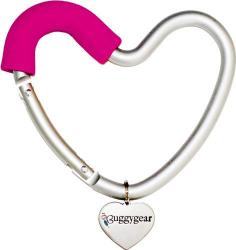Крепление для сумок Buggygear (Багги Гир) Сердечко silver/pink 3741