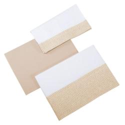 Постельное белье Micuna Galaxy (Микуна Гэлакси) 3 предмета 120*60 ТХ-821 beige