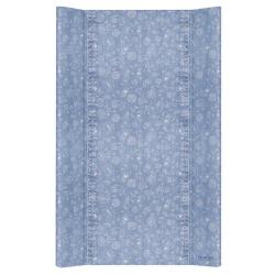 Матрас пеленальный Ceba Baby (Себа Беби) 80 см без изголовья на кровать 125*65 см Denim Style Boho blue W-210-119-592